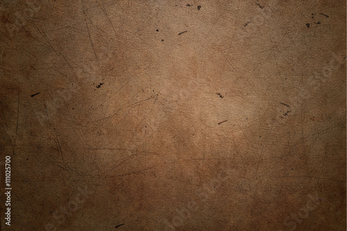 Tuinposter Stof Brown leather background with scratches