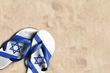 Thongs With Flag Of Israel, On...