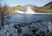Spring Water Release From Lucky Peak Dam Near Boise, Idaho, 2016