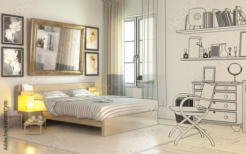 Im Schlafzimmer (Einrichtung) - Buy this stock illustration and ...