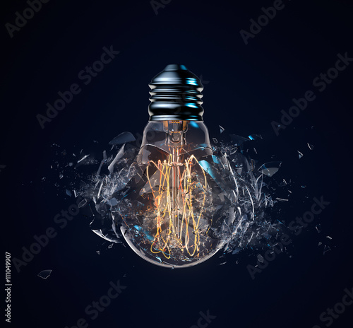 Photo  Exploding Light Bulb