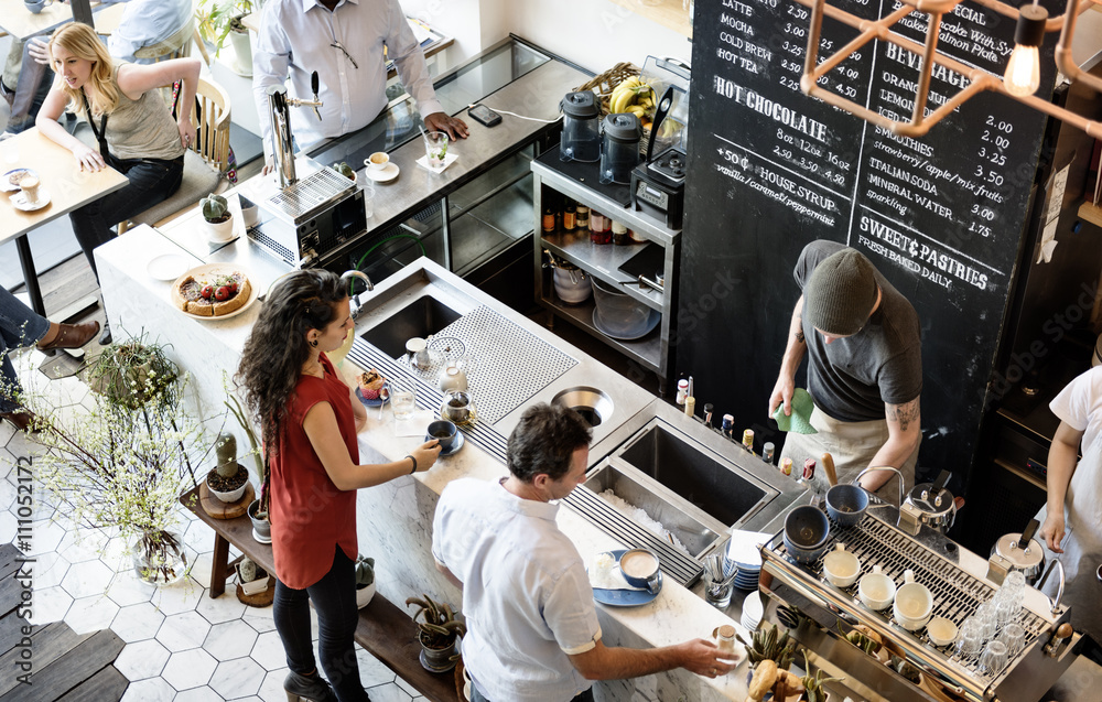 Fototapeta Coffee Shop Bar Counter Cafe Restaurant Relaxation Concept
