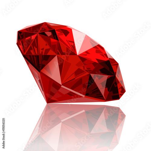 Cuadros en Lienzo realistic vector ruby