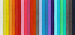 canvas print picture Color range - detail of the colored pastels