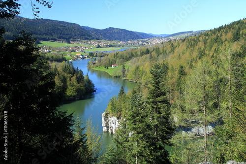 Photo Doubs Franco-Suisse embouchure des bassins du Doubs