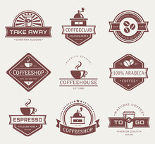 Vector Coffee Logos.