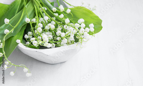 Wall Murals Lily of the valley spa flowers