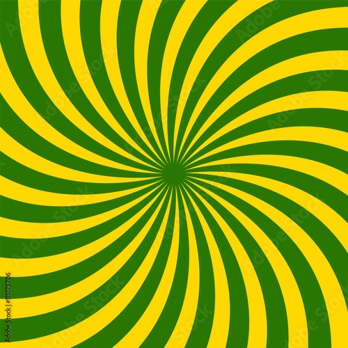 Fototapety, obrazy: Vector Illustration. Green and Yellow Spirals Pattern. Suitable for textile, fabric and packaging