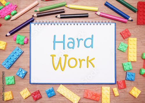 kids and children theme. hard work - Buy this stock photo and ...