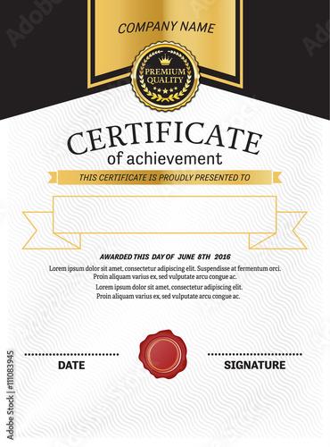 gold elegant certificate template vector illustration design buy