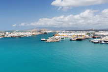 Docks In Honolulu Harbor Seen ...