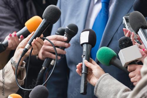 Foto Pressekonferenz-Interview