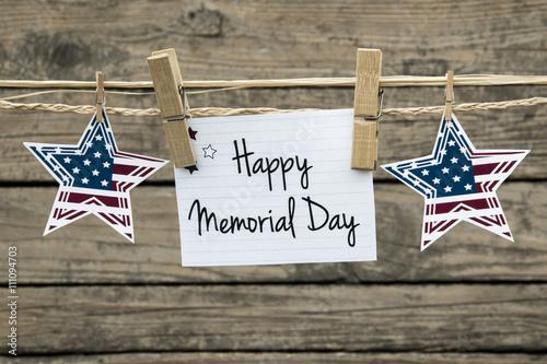 Fotografía  Memorial day card.