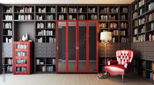 Частная библиотека 3d Canvas Print