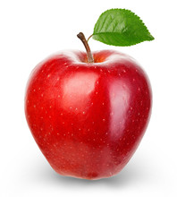Ripe Red Apple Isolated On A W...