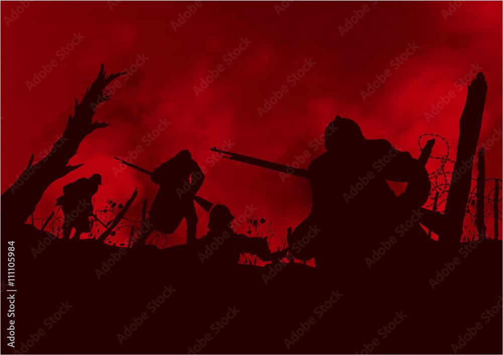 Fototapeta Guerre de tranchées 14-18