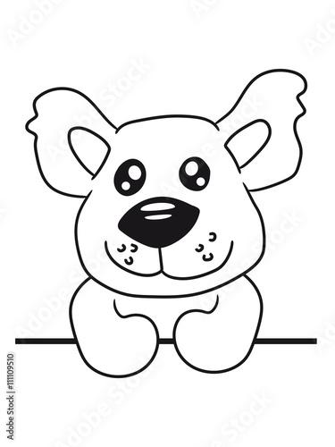 Poster de jardin Chambre bébé Write text umrandung frame shield wall wall Teddy comic cartoon sweet cute