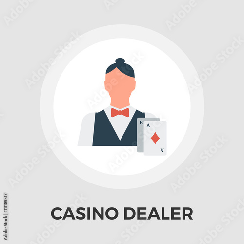 Casino Dealer Flat Icon плакат