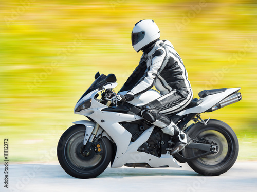 Dynamic motorbike racing Poster