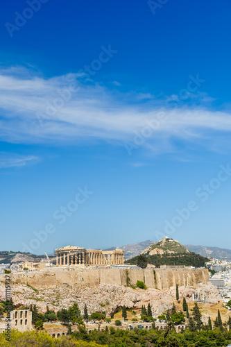 Printed kitchen splashbacks Athens Acropolis in rays of sunset