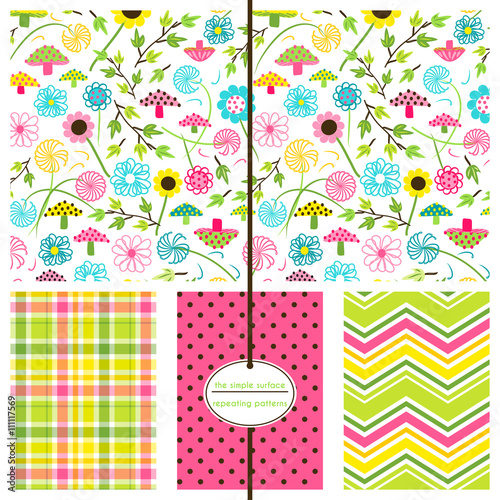 Repeating Patterns For Digital Paper Scrapbooking Cards