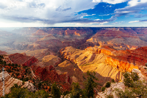 In de dag Canyon Mather Point, View Point, Grand Canyon National Park, Arizona, U