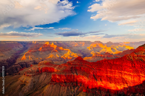 Tuinposter Canyon Mather Point, View Point, Grand Canyon National Park, Arizona, U
