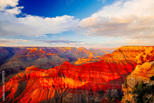 Photo sur Toile Canyon Mather Point, View Point, Grand Canyon National Park, Arizona, U
