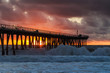 Stormy Sunset at Hermosa Beach Pier. This is a shot of the Hermosa Beach Pier in Southern California during a recent storm.