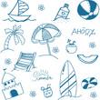 Blue summer doodle image