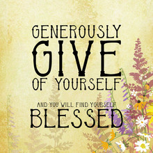 Give And Be Blessed Typography...