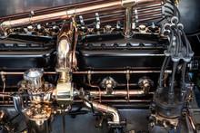 Engine Bay Of A Rolls Royce Si...