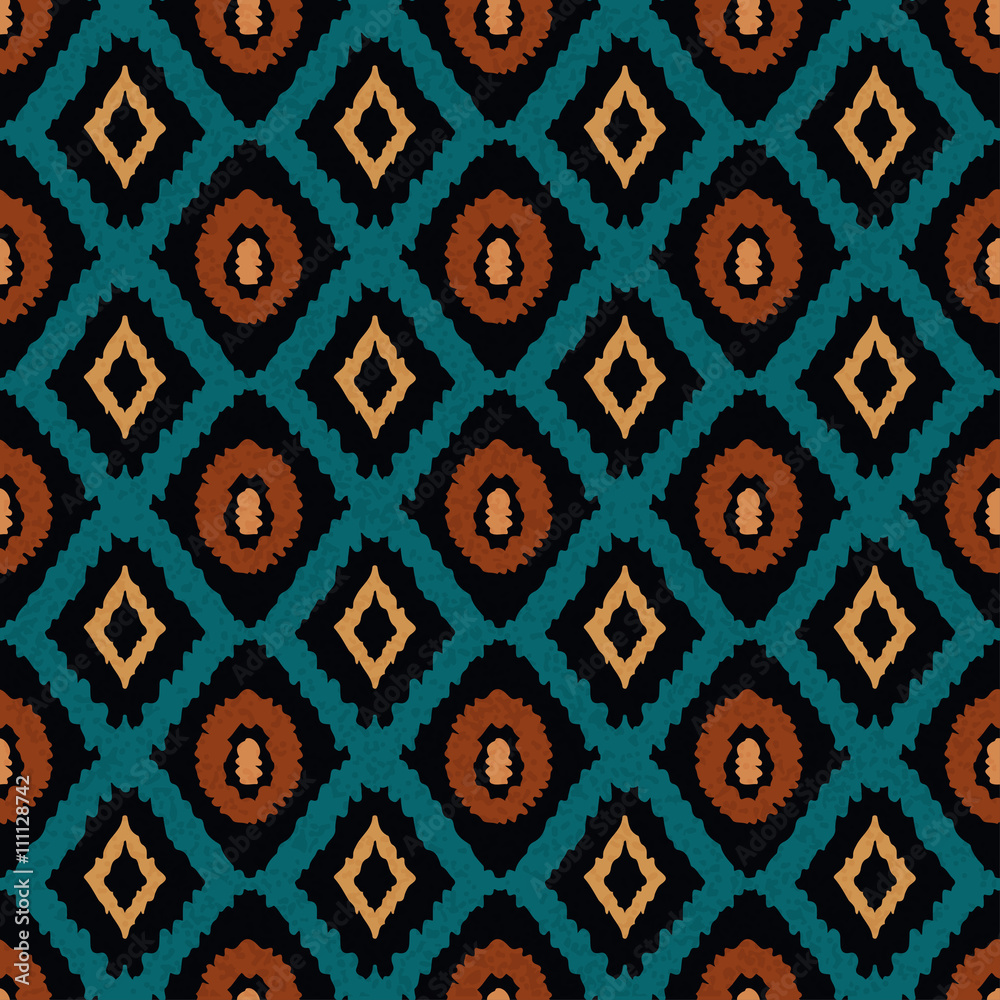 Photo Ethnic seamless pattern, carpet, rug