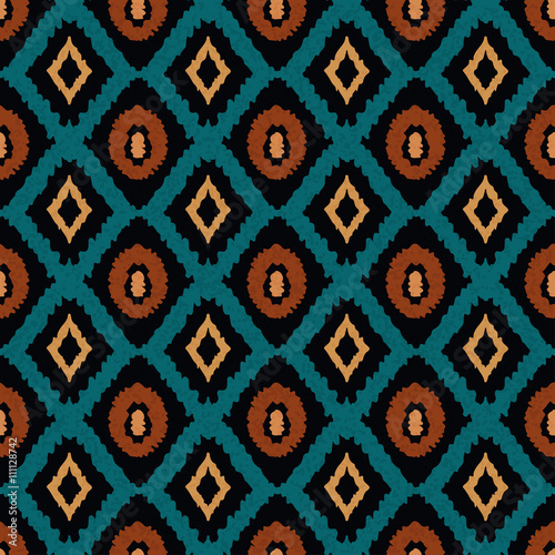 Ethnic seamless pattern, carpet, rug Fotobehang