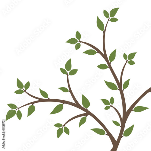 Fototapety, obrazy: Abstract illustration - silhouette of a young tree