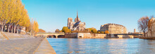 Paris, Panorama Over River Sei...