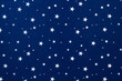 Close-up of blue felt with stars background