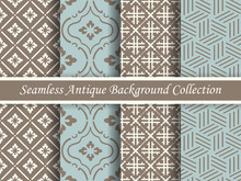 Antique Seamless Brown Background Collection_122