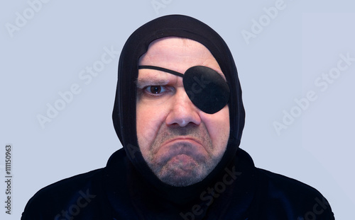 Fotografie, Obraz  Portrait of a man with the eyepatch