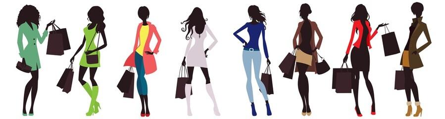 fashion women and shopping bags