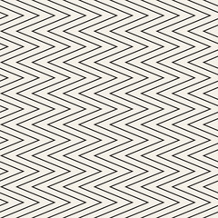 FototapetaSeamless monochrome wavy stripes pattern