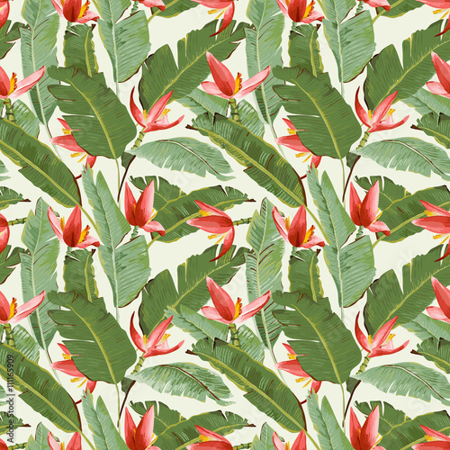 bezszwowy-wzor-tropikalna-palma-lisci-i-kwiatow-tla