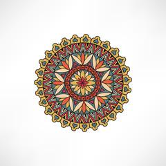 Obraz Abstract floral decorative element. Geometric ornament. Oriental mandala decor