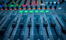 Sound Check, Sound Control Music Digital Audio System,  Equalizer Volume On The Mixer Amplifier, Control Of High-quality Audio, And Equalizer Volume On The Mixer, Amp, Mixing, Equipment.