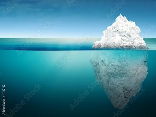 Fotografie, Obraz  iceberg in blue ocean