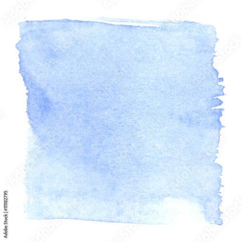 Photo Light blue watercolour abstract square painting