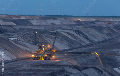Valokuva  open cast mining garzweiler germany in the evening