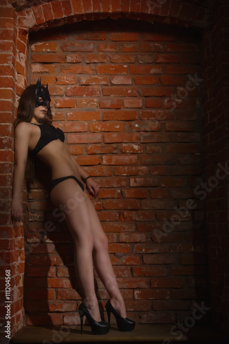 Fototapeta girl in the mask of Batman