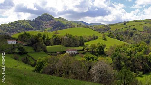 Fotografie, Obraz  paisaje de la primera etapa del camino de santiago en los pirineos