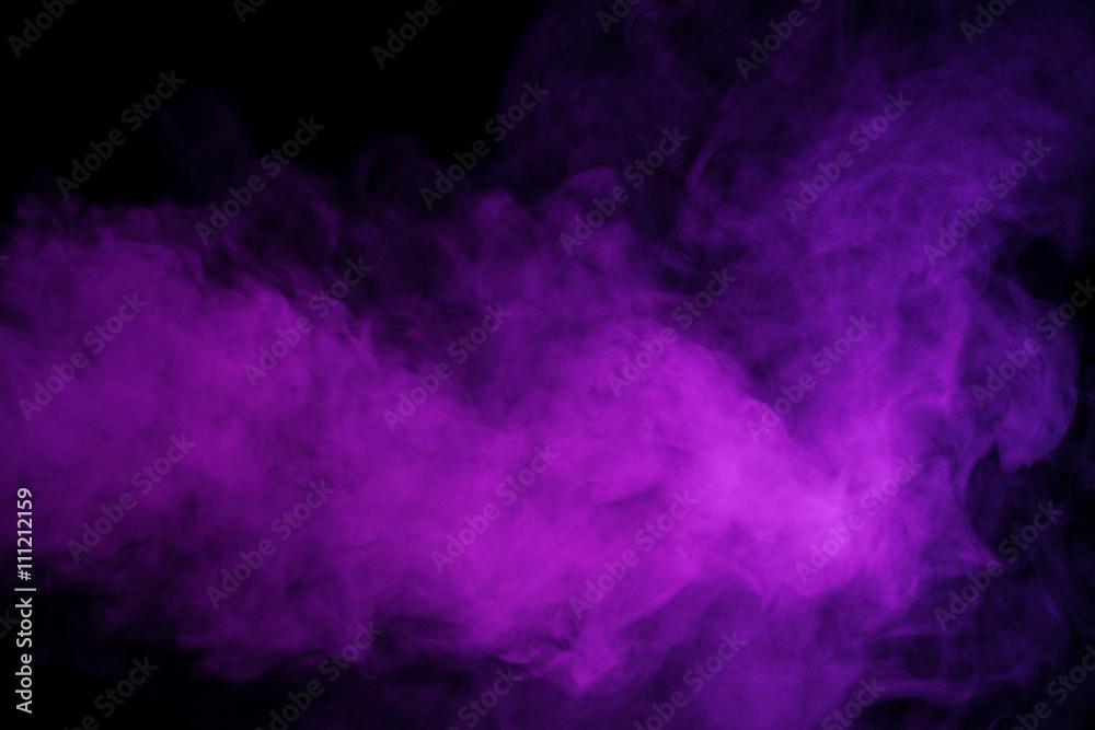 Fototapety, obrazy: Abstract purple smoke hookah.